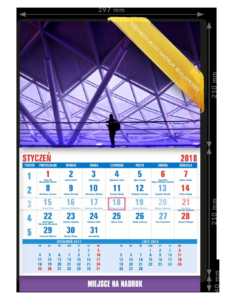 Ścienny kalendarz A4