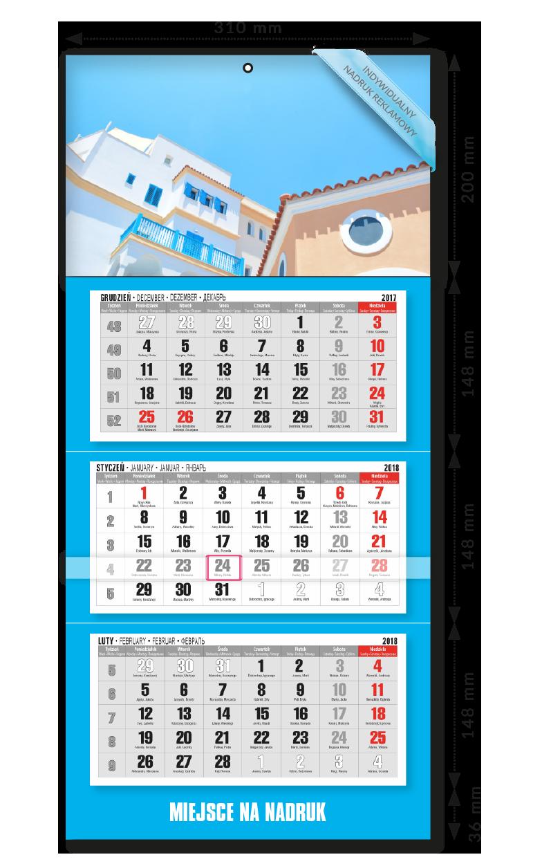 Kalendarz ścienny trójdzielny 5